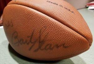 BART STARR Y.A. TITTLE BERT JONES CHARLIE CONERLY Autographed NFL Football