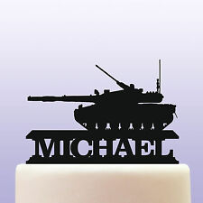Personalised Acrylic Army Battle Tank Cake Topper Decoration