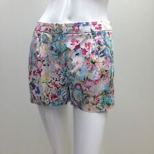 Forever New sz 6 Floral Silky Stretch Cotton Dress Shorts