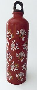 The Pioneer Woman Stainless Steel Water Bottle Red White Floral 25 oz