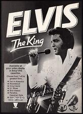 ELVIS - THE KING__Original 1983 Print AD / video promo advertisement__PRESLEY