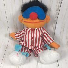 1996 TYCO Talking Sleepy Time Snoring Ernie Plush Doll Bedtime Sesame Street