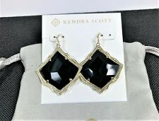 KENDRA SCOTT Kirsten Gold Drop Earrings In Black Opaque Glass