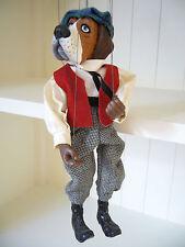 Marionette ☼ Puppe mit Basset-Hundekopf H: 28 cm