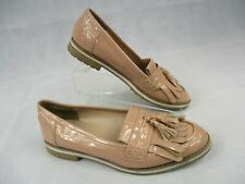 New Look UK Size 5 Pink Patent Loafer Flat Heel EUR 38