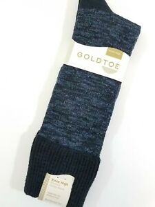 Gold Toe Womens Knee High Socks Slub Lace Roll Cuff Blue 1 Pair