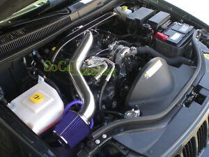 Blue Long Air Intake Kit For 2005-09 Jeep Grand Cherokee Commander 4.7L V8