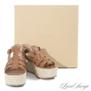 NIB Michael Kors Collection Rowling Runway Brown Platform Espadrille Shoes 8.5
