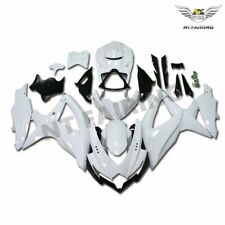 Fit for SUZUKI GSXR 600 750 2008-2010 K8 Glossy White Injection ABS Fairings i4