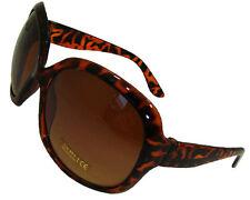 Ladies Womens Tortoise Shell Large Frame Vintage Retro Sunglasses UV400