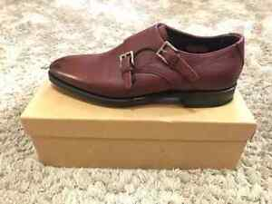 MEERMIN Mallorca Doble Monkstrap BURGUNDY CALF, UK9.5 US10.5 EU43.5