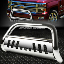 FOR 07-13 CHEVY SILVERADO/SIERRA 1500 CHROME BULL BAR PUSH BUMPER GRILLE GUARD