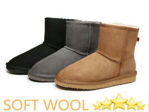 UGG Classic Water-Resistant Unisex Mini-short Boots Soft Australian Sheepskin