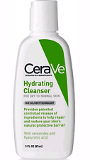 cerave hydrating cleanser for dry to normal skin 3 fl oz (87 ml ) + more gifts