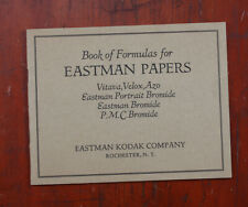 KODAK BOOK OF FORMULAS FOR EASTMAN PAPERS AUG 1926/cks/210779