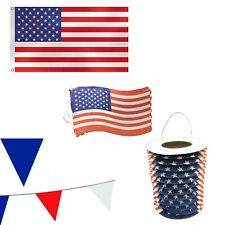 More details for usa american independence day party decoration pack july 4 flag bunting lanterns