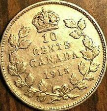 1915 CANADA SILVER 10 CENTS COIN - Nicer example!