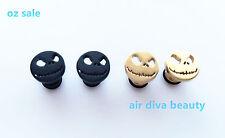 Women Man 316L Surgical Titanium Halloween skull face Piercing Earrings Stud