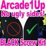 Arcade1Up BLACK SCREW KIT - No More Ugly Silver Screws! Full Replacement Set