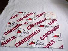 Vintage Arizona Cardinals NFL Football 20X20 Cotton Cloth Napkins NEW