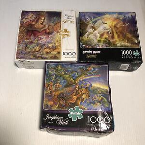 3- Josephine Wall Glitter Edition 1000 Piece Puzzles  Jigsaw New