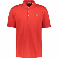 LACOSTE Men's Slim Fit Red Button Down Polo Shirt, size XXL