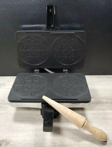 Krumkake Baker Villaware Scandinavian Pizelle Cookie Maker Complete & Tested