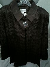 Newport News 2 Pc Suit- Jacket and Slacks Brown Size 18T