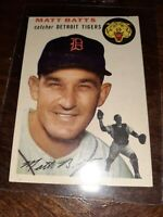 1954 Topps Baseball Matt Batts #88 DETROIT TIGERS VINTAGE EXCELLENT CONDITION