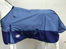 AXIOM 600D WATERPROOF BLUE/NAVY LIGHT/NO FILL HORSE RUG 6' 6