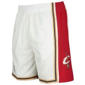 NBA Throwback White Cleveland Cavaliers Mitchell & Ness Swingman Shorts