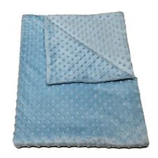 BABY BLANKET MINKY Large Warm Soft Beds Buggy Pram Mat in Baby Blue