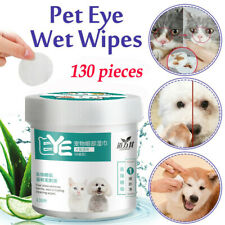 130 Pcs Pet Eye Wet Wipes Dog Cleaning Paper Towels Tear Stain Remover Wipes