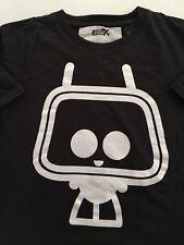 Dark Gray FCUK TV Head Short Sleeve T-shirt Mens Size Small P2