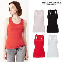 Bella + Canvas 2x1 Rib Racerback Tank Top 4070 - Longer Length Slim Fit Vest Top