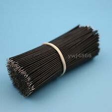 500Pcs Black 24Awg Motherboard Breadboard Jumper Cable Wires Set Tinned 10cm