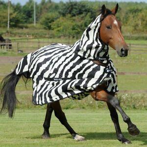 """Bucas Buzz OFF Zebra Print Fly Rug 5'6"""" 5'9"""" WAS £109.45"""