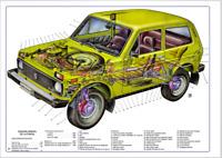 Manual de Taller y Mecánica de Lada Niva (En CD) Workshop Reparation.