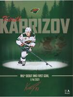 "Kirill Kaprizov Minnesota Wild Signed 16"" x 20"" NHL Debut Stylized Photo"
