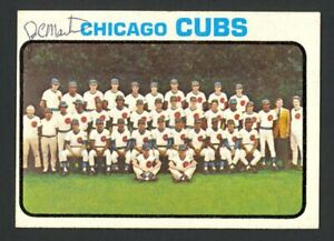 1973 Topps Chicago Cubs Team Card #464 - Signed Autograph Auto (J.C. Martin)