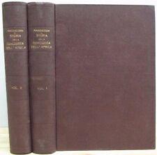 STORIA DELLA CONQUISTA DELL'AFRICA 1937-38 MAZZUCCONI OPERA IN 2 VOLUMI (VA742)