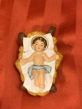 Vintage Nativity Figure Creche Paper Mache Plaster Baby Jesus Hand Painted Italy