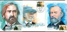 Vatican City Sc# 1182-4: Death of Giuseppe Verdi, 3 Maxi Cards