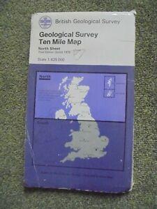 BRITISH GEOLOGICAL SURVEY TEN MILE MAP NORTH SHEET 1979