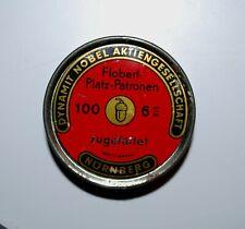 Flobert Platz Patronen 6 mm Collectible Tin Nuremberg Nurnberg W Germany vintage