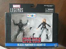 Marvel Legends 3.75 Civil War - Toys R Us Exclusive - Black Panther & Agent 13