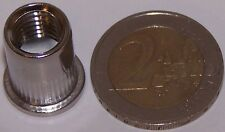 50 M10 Edelstahl A2 Blindnietmuttern Flachkopf 0,5-3mm