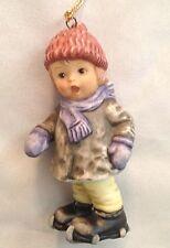 "Goebel Hummel 3"" Boy with Snowshoes Figurine Ornament"