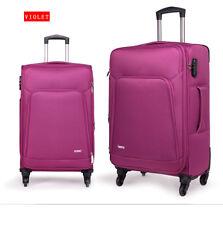 Purple Suitcase Expandable 4 Wheel Luggage Trolley Case Hardshell Lightweight