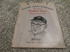 Woody Hayes signed autographed 1956 Ohio State Program clinic Buckeyes